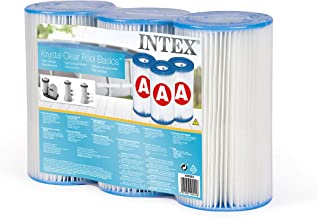 Intex 29003 - Pack 3 cartuchos tipo A- altura 20-2 cm- diametro 10-8-5 cm